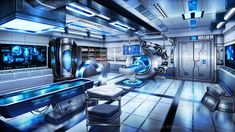 Sci Fi Background, Medical Background, Fantasy Places, Fantasy World, Anime Scenery Wallpaper, Wallpaper Backgrounds, Sci Fi Environment, Spaceship Concept, Fantasy Armor