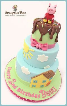 Paper pig Cake