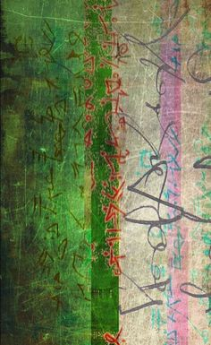 The New Post-literate:  A Gallery Of Asemic Writing: Glitch by Laura Ortiz