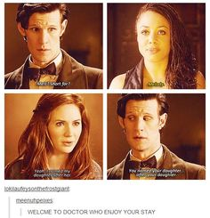 """Never apply logic to Doctor Who."" -Matt Smith."