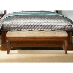 Have to have it. Alexandria Bed Bench - Autumn Brown - $301.99 @hayneedle
