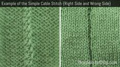 Example of the Simple Cable Stitch