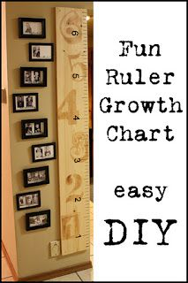 Adventures in Decorating & Design: Ruler Growth Chart--LOVE the stained large numbers