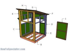 5x5 Deer Blind Plans | HowToSpecialist - How to Build, Step by Step DIY Plans Quail Hunting, Deer Hunting Tips, Deer Hunting Blinds, Coyote Hunting, Pheasant Hunting, Turkey Hunting, Archery Hunting, Hunting Stuff, Hunting Dogs