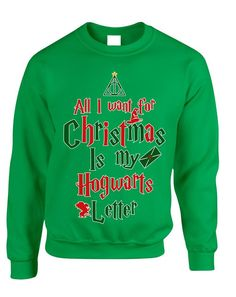 Adult Sweatshirt All I Want For Xmas Is Hogwarts Letter Holiday Top  #christmas #hogwarts #uglychristmassweater #harrypotter #sweatshirt