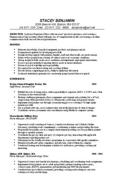 nurse resume example sample