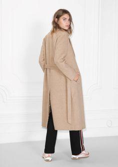 & Other Stories - Loose Alpaca Blend Coat in Beige