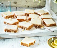 This easy no-bake lemon slice is the quickest sweet treat you'll ever make, and is perfect in school lunch boxes or as an afternoon snack No Bake Lemon Slice, Lemon Coconut Slice, Wine Recipes, Baking Recipes, Pear Tarte Tatin, Apple Monkey Bread, Custard Slice, Best Street Food, Crusted Chicken