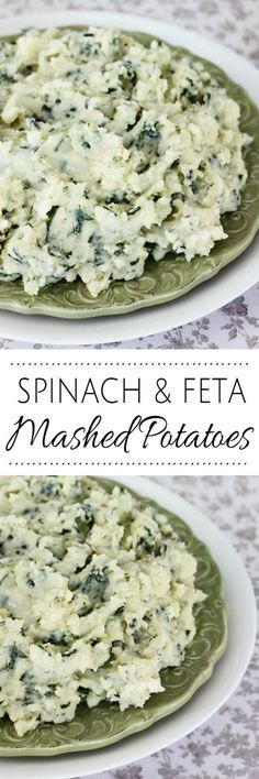 Spinach and Feta Mashed Potatoes #mashedpotatoes #potatoes #cheesypotatoes #sides #dinner #spanakopita #greekpotatoes