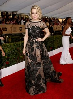 SAG Awards 2016: what they're wearing: Rachel McAdams in Elie Saab See more 27 Couture Dresses We Want to See at the Oscars
