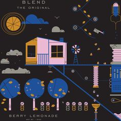 Blend is a seasonal line of juices that can be mixed and matched to create custom variety packs for consumers. Each season they send out a special edition flavor with a limited edition illustration.