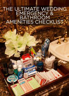The Ultimate Wedding Emergency & Bathroom Amenities Checklist Wedding Tips, Wedding Details, Fall Wedding, Diy Wedding, Rustic Wedding, Wedding Reception, Wedding Planning, Dream Wedding, Wedding 2017