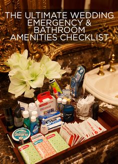 Every detail matters. Check out our ultimate wedding emergency & bathroom amenities checklist: http://www.colincowieweddings.com/articles/ideas-how-tos/the-ultimate-wedding-emergency-and-bathroom-amenities-checklist