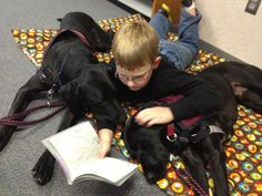 PawPADs service dogs Bravo and Recon are attentive listeners.