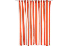 Vertical Striped Shower Curtain, Orange on OneKingsLane.com