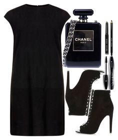 """black"" by ecem1 ❤ liked on Polyvore featuring MuuBaa, River Island, Chanel, Lancôme, Bobbi Brown Cosmetics, women's clothing, women, female, woman and misses"