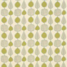 L.Ashley Wykeham leaf print fabric