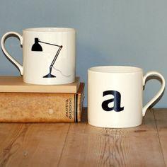a is for angle lamp mug, part of the urban alphabet mug series by big tomato