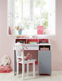Kinder-Schreibtisch WEIß/GRAU