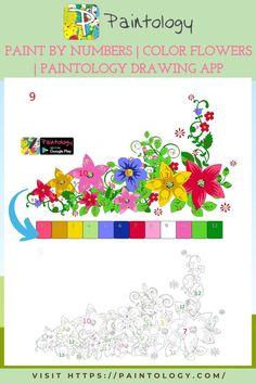 In this painting of paint by numbers (flowers), you will do this fairly easy painting. It will definitely help with your drawing skills. Remember aside from the fun factor in doing paint by numbers, your goals are to get better in drawing. The paintology app has been designed with that in mind. Most artists will tell you that the reasons they got into art in a big way was their intense interest in the subject. #paintbynumbers #freepaintbynumbers #digitaldrawing #digitalpainting #digitalart
