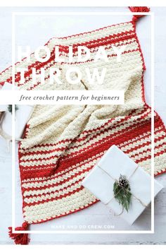 Inspired by classic woven blankets, the Hygge Holiday Throw from Make