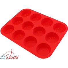 Le Silicone - 12 Cup Nonstick Muffin Cupcake Pan -- Unbelievable offers are coming! : Baking pans