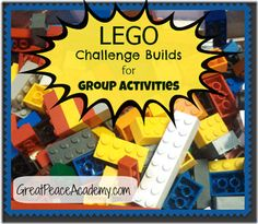 Challenges Lego Challenge Build for Group Activities Peace Academy Academy.Lego Challenge Build for Group Activities Peace Academy Academy. Stem Projects, Lego Projects, School Projects, School Ideas, Lego Engineering, Lego Therapy, Lego Math, Lego Jr, Lego Duplo