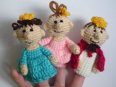 Finger Puppets crochet puppets crochet finger by FunnyAmiToys