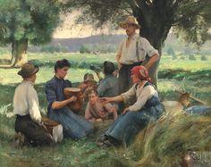 Julien Dupré (1851 - 1910) Le repas des moissonneurs