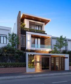 House Front Elevation Designs In Tamilnadu Villa Design, Minimalist House Design, Modern House Design, Modern Zen House, Modern Minimalist, Modern Exterior, Exterior Design, Roof Design, Bungalow Exterior