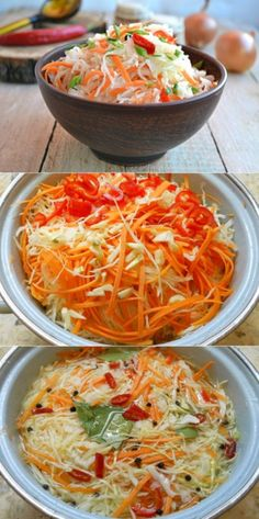 Delicious cabbage pickled in 2 hours! A fabulous recipe! Cooking Recipes, Healthy Recipes, Russian Recipes, Cauliflower Recipes, Kimchi, Cabbage, Curry, Food And Drink, Easy Meals