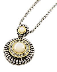 """15"""" + EXT White Clear Rhinestone Pendant Necklace Retail - $32.50 You Pay - $16.25 w/ free shipping in the US."""