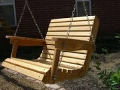 outdoor swinging wooden chairs - Google Search