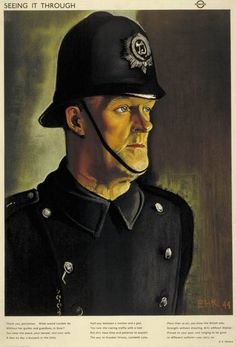 Seeing it through; policeman, by Eric Henri Kennington, 1944.jpeg 620×913 pixels