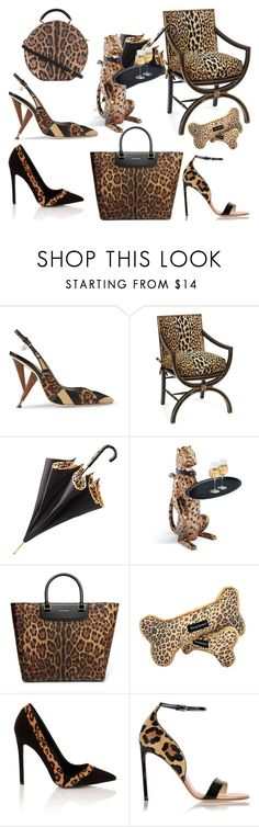 """Leopard"" by didesi ❤ liked on Polyvore featuring Dsquared2, John-Richard, Aspinal of London, Frontgate, Dolce&Gabbana, Ballard Designs, Paper Dolls and Francesco Russo"