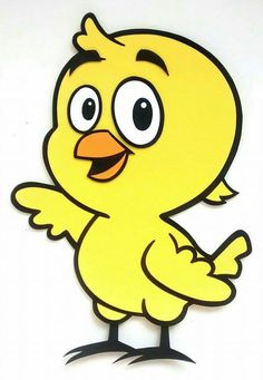 Pollito amarillo de goma eva