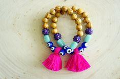 Tassel Bracelets - Evil Eye Bracelet | Dibadani Good Luck Bracelet