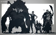 art oscuro ArtStation - Evolve: Characters, S - art Fantasy Character Design, Character Design Inspiration, Character Concept, Character Art, Creature Concept Art, Creature Design, Mythical Creatures Art, Fantasy Creatures, Monster Concept Art
