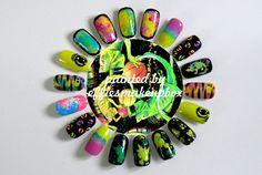 Emma Mulholland 'As Bad As I Guana Be' S/S 12 nails (Iguanas)