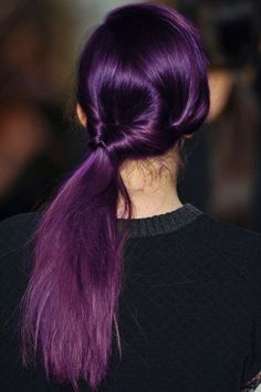 #PurplePonytail  |The Purple Hair Chronicles|