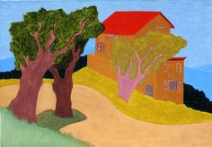 Edge of Town Oil on Canvas painting by artist March Avery at Marin-Price Galleries