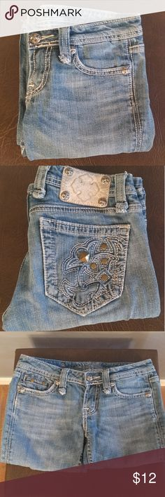 """Miss Me Jeans Blue Jeans w/White Stitching, 30"""" Waist 31"""" In Seam, Cotton 2% Elastane, Bundle and Save Miss Me Jeans"""