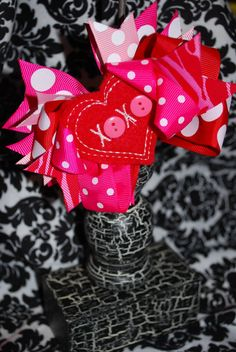 Valentine's Day hairbow.  So cute.