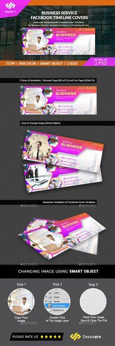 Business Service Facebook Timeline Cover Template PSD AI Illustrator Design