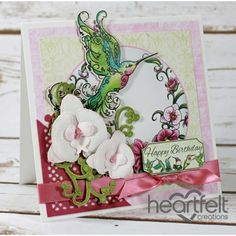 Heartfelt Creations - Hummingbird Birthday White Orchids Project