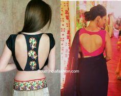 Cut Out Blouses for Designer Sarees 3 blouse designs