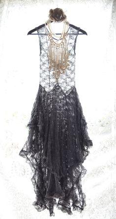 Romantic Lace Slip dress Bohemian dresses by TrueRebelClothing