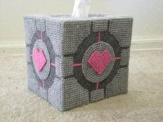 Companion cube tissue box - would make an awesome gift for Sara and David :)