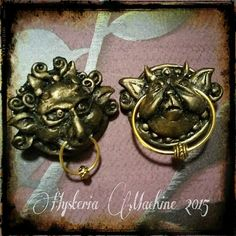 Labyrinth inspired Door Knocker Hair Clips by HysteriaMachine- $20.63