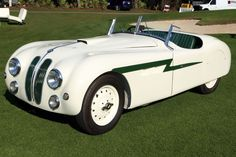 1939 Frazer Nash-BMW Only 464 BMW 328s were produced from 1936 to 1940, but this nifty green and white number is even more of an oddball because it found its way to Archie Frazer-Nash in the U.K., where it was fitted with a custom streamlined body. Its 79hp engine is humble by today's standards, but this zingy lightning bolt managed to finish 6th in its class and 12th overall at Spa-Francorchamps in 1949, with Dickie Stoop at the wheel.